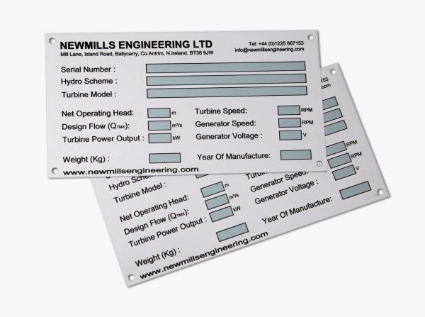 Engineering.Nameplates.anodised.aluminium